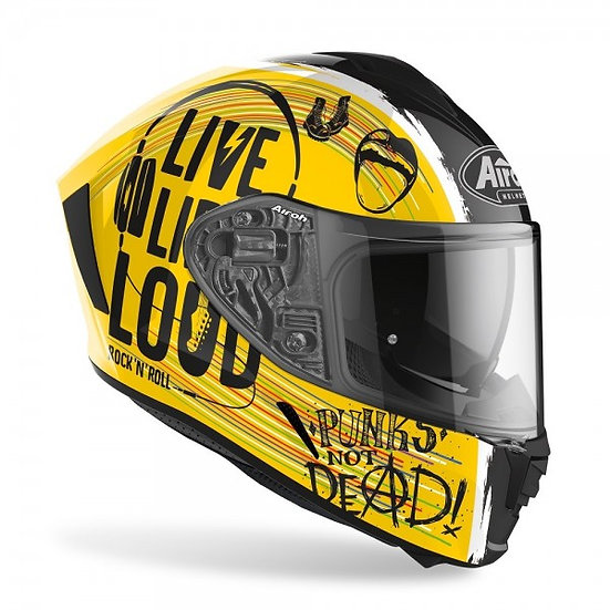 Airoh Spark  Rock'N'Roll Yellow Gloss