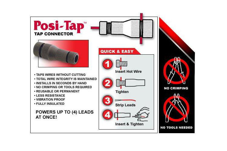 ELECTRICAL CONNECTOR - POSI-TAP® (20-22GA) Tapered Swivel 10pcs