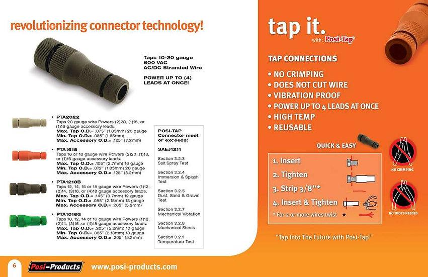 ELECTRICAL CONNECTOR - POSI-TAP® (14-16GA) 10Pcs