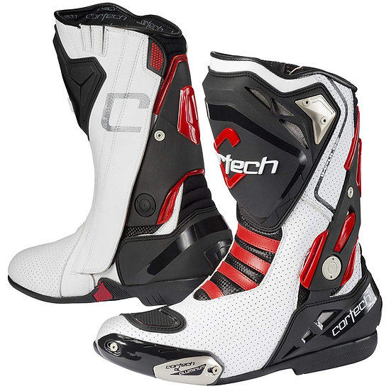 Cortech Impulse Air RR Boots - White / Red