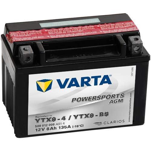 VARTA YTX 9 - 4 / YTX 9 - BS (12V) 8Ah Powersports AGM Model VARTA