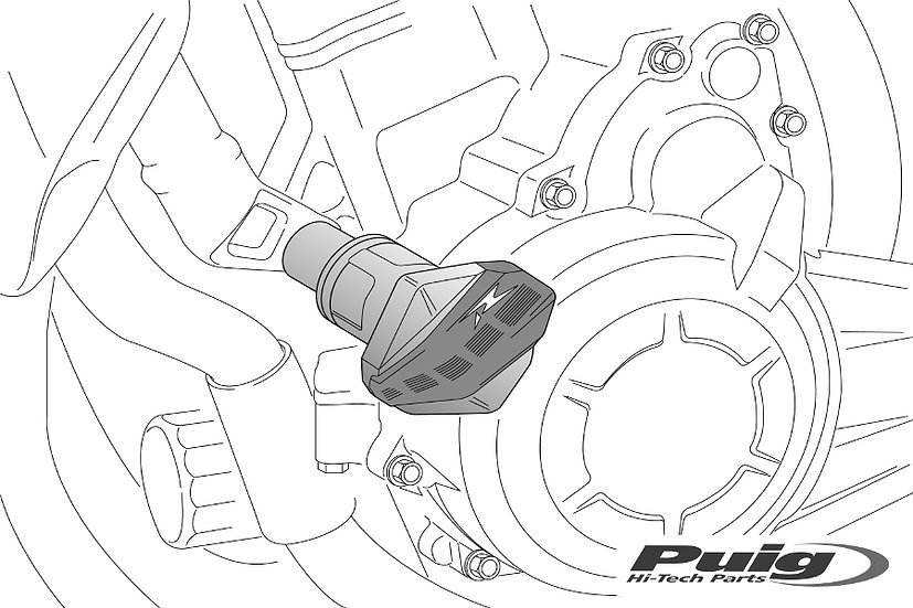 PUIG R12 Frame Slider for Kawasaki Ninja 650 2017-20