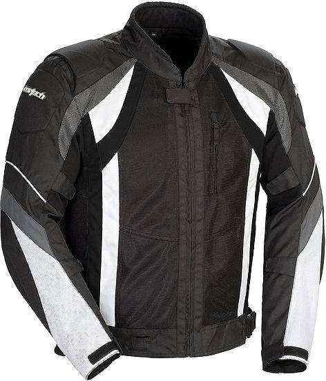 Cortech VRX Air Jacket - Gun Metal, White & Black