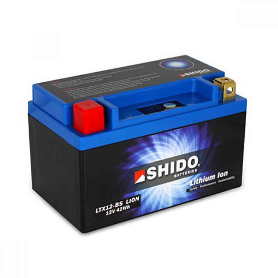 SHIDO LTX12–BS LITHIUM ION MOTORCYCLE BATTERY: 12V 42WH