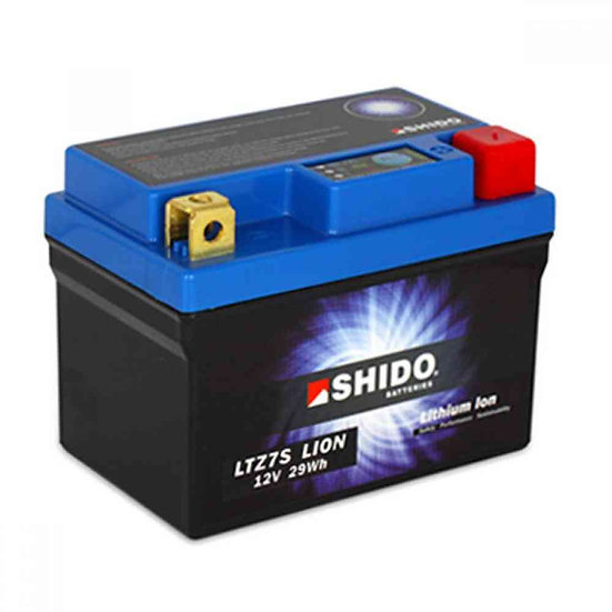 SHIDO LTZ7S LITHIUM ION MOTORCYCLE BATTERY: 12V 30WH