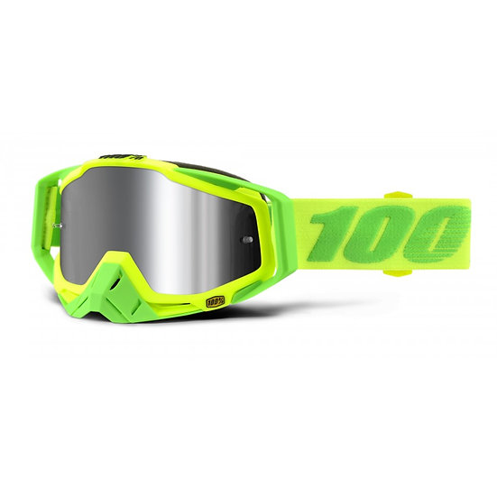 RACECRAFT PLUS GOGGLE SOUR SOUL INJECTED SILVER FLASH MIRROR LENS