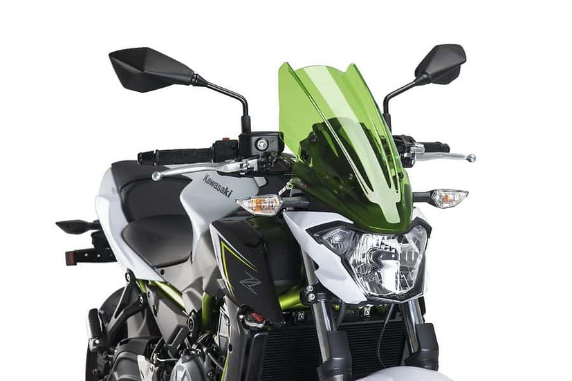 PUIG Windshield Naked New Gen. Touring for Kawasaki  Z650  2017-20