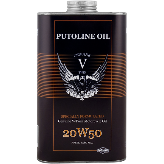 Putoline Genuine V-Twin 20W-50 Oil 1ltr 1000ml