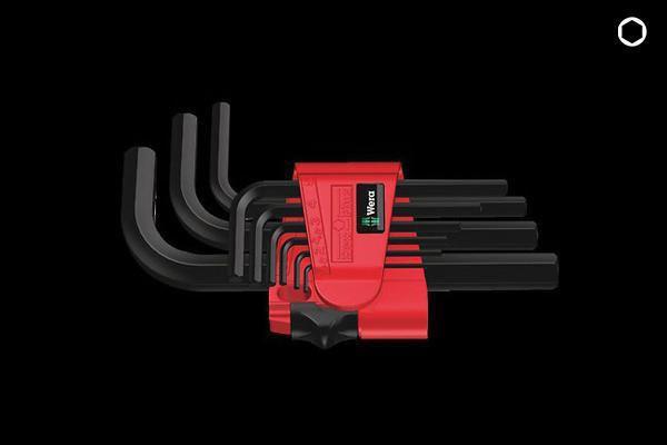 L-KEY HEX BLACK LASER (SHORT/LONG) (950/9) - SHORT
