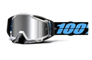 RACECRAFT PLUS GOGGLE DAFFED INJECTED SILVER FLASH MIRROR LENS