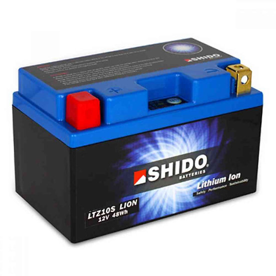 SHIDO LTZ10S LITHIUM ION MOTORCYCLE BATTERY: 12V 48WH