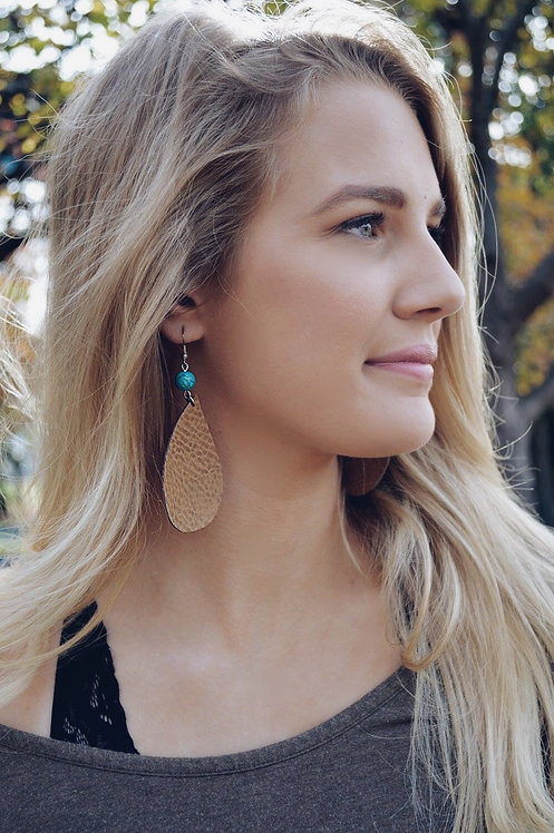 Leather earring