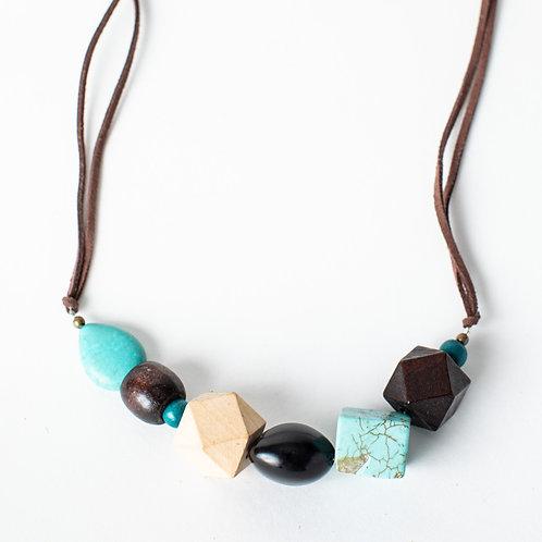 Geometric & Turquoise Necklace