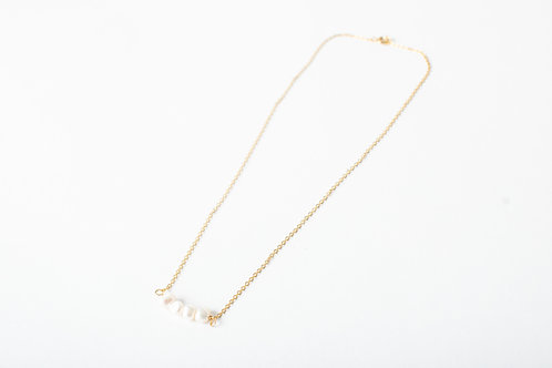 Gold Tarnish Resistant Chain with pearl