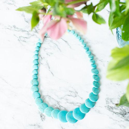 Flat Layered Turquoise Necklace
