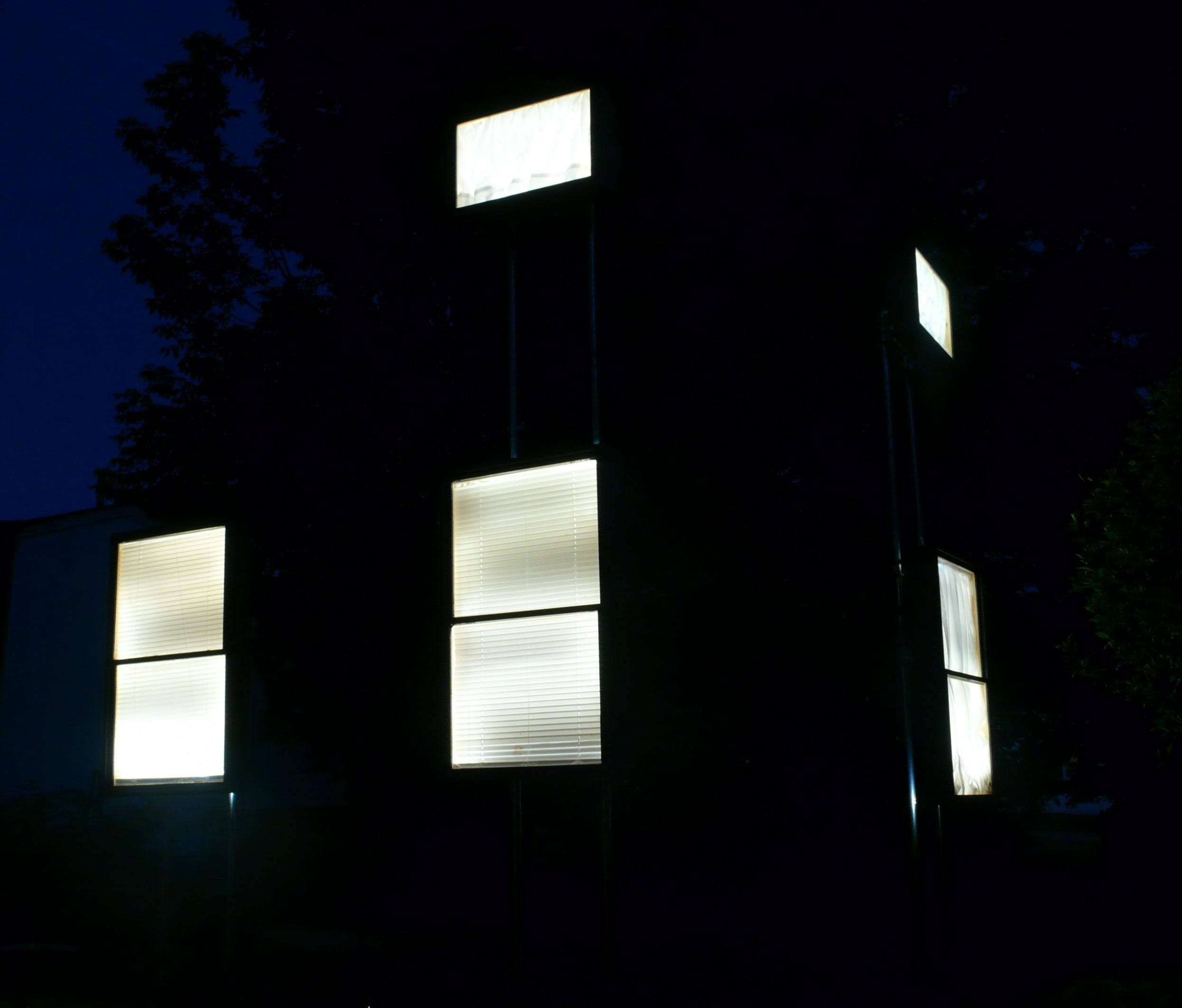 House at Night Single Window