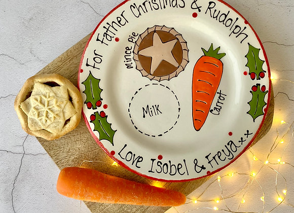Santa and Rudolph - Christmas Eve Plate