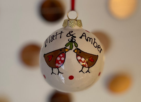 Two Robins - Bauble