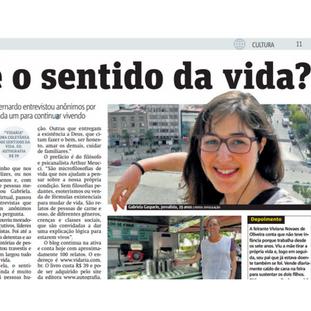 Reportagem no Metro Jornal