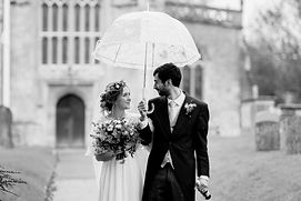 Professional Wedding Photographer in Bristol. Raining wedding photo