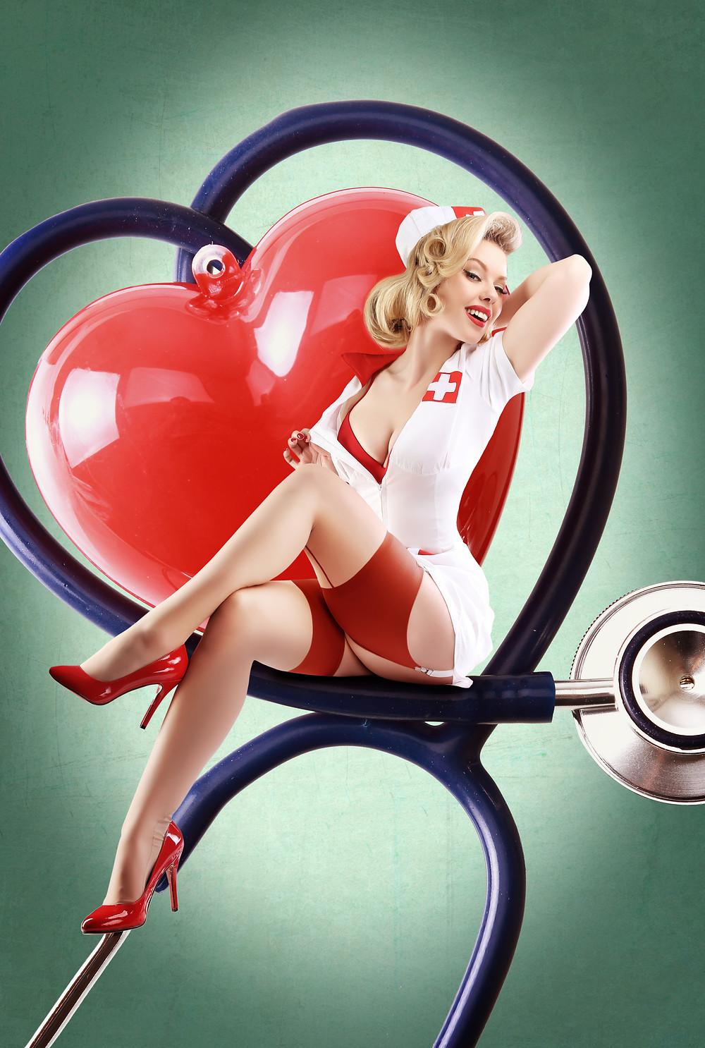 Nurse Pin Up Ideas Heather Valentine Model by Dollhouse Photography