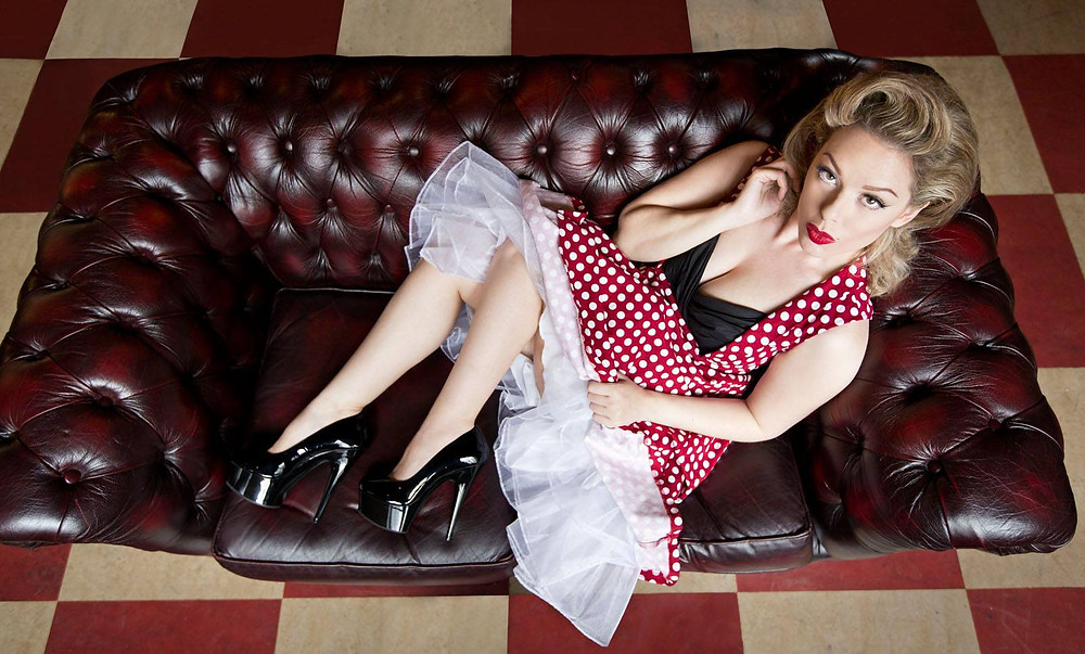 Pin Up Photo Shoot at Retro Bowling Alley with Heather Valentine and Ami-Lou Pinup