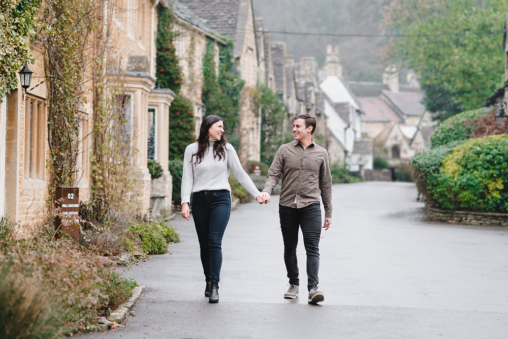 Engagement Shoot Ideas. Pre-Wedding Shoot Castle Combe Cotswolds