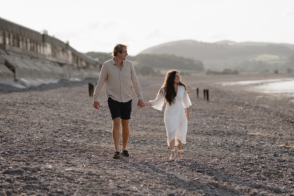 Beach Themed Engagement Shoot Ideas - Minehead Somerset by Heather Bailey Photography