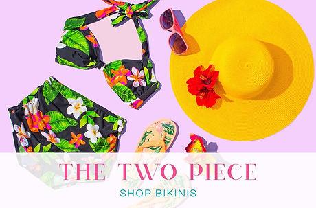 Two Piece Vintage Retro Swimsuits and High Waisted Bikinis - Swimwear by For Luna UK Swimwear Brand