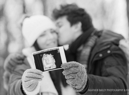 Let It Snow! Winter Maternity Photo-Shoot