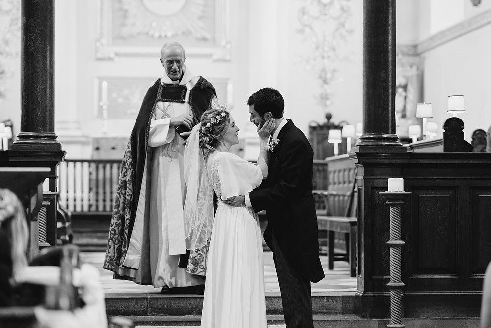 Church Wedding - Reportage Wedding Photography Somerset. Professional Wedding Photographer Heather Bailey