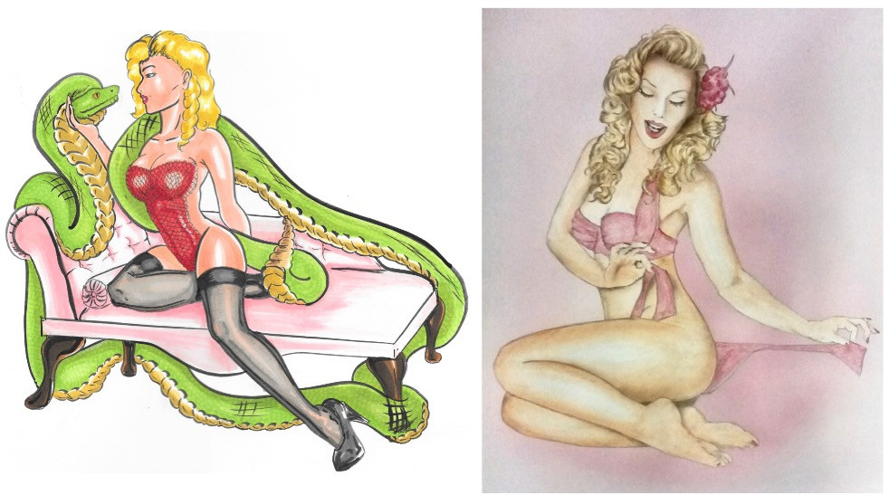 Heather Valentine Pin Up Model Fan Artwork