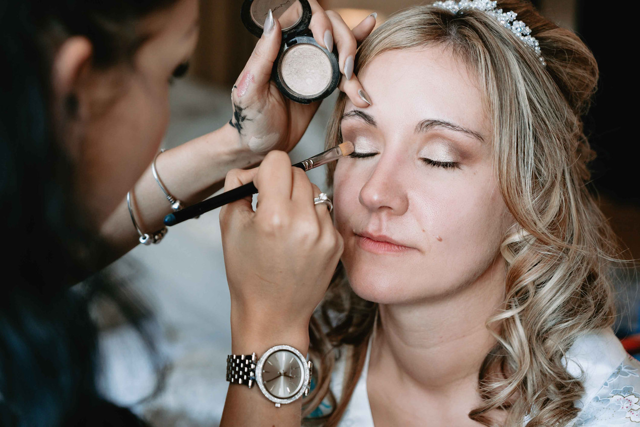 Bridal Prep Portraits - Wedding Photos at Clearwell Castle - Gloucestershire