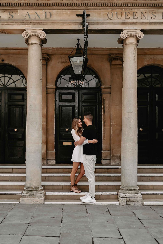 Pump Rooms and Roman Baths Pre-Wedding Engagement Photography Bath, Somerset. Couple Portraits. Wedding photography