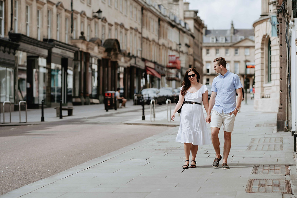Bath City Centre Pre-Wedding Engagement Photography Bath, Somerset. By Wedding Photographer Heather Bailey