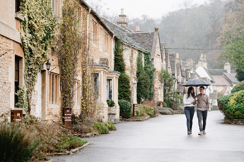 Castle Combe Engagement Shoot Ideas by Heather Bailey - Wedding Photographer