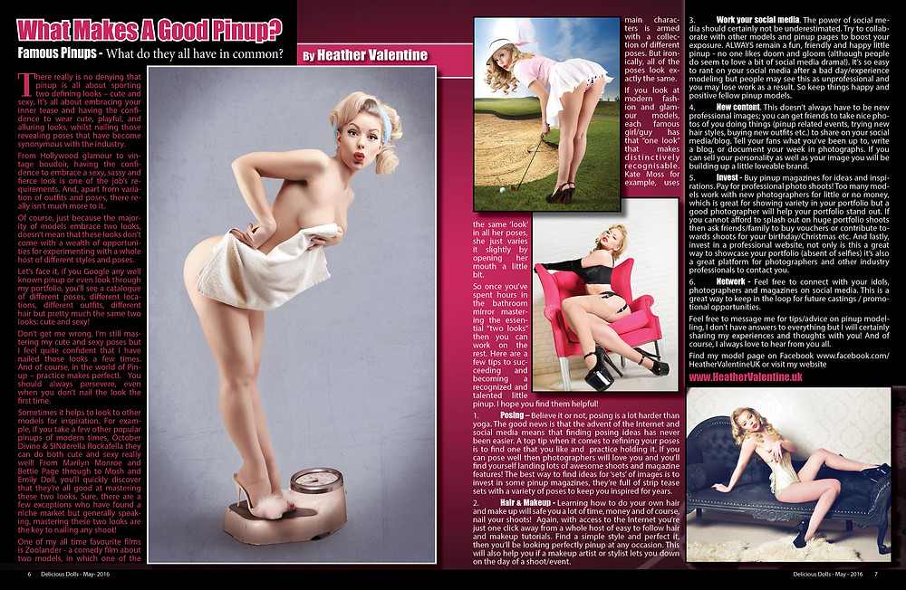 Heather Valentine Pin Up Model Columnist for Delicious Dolls Magazine - American Pin Up Magazine