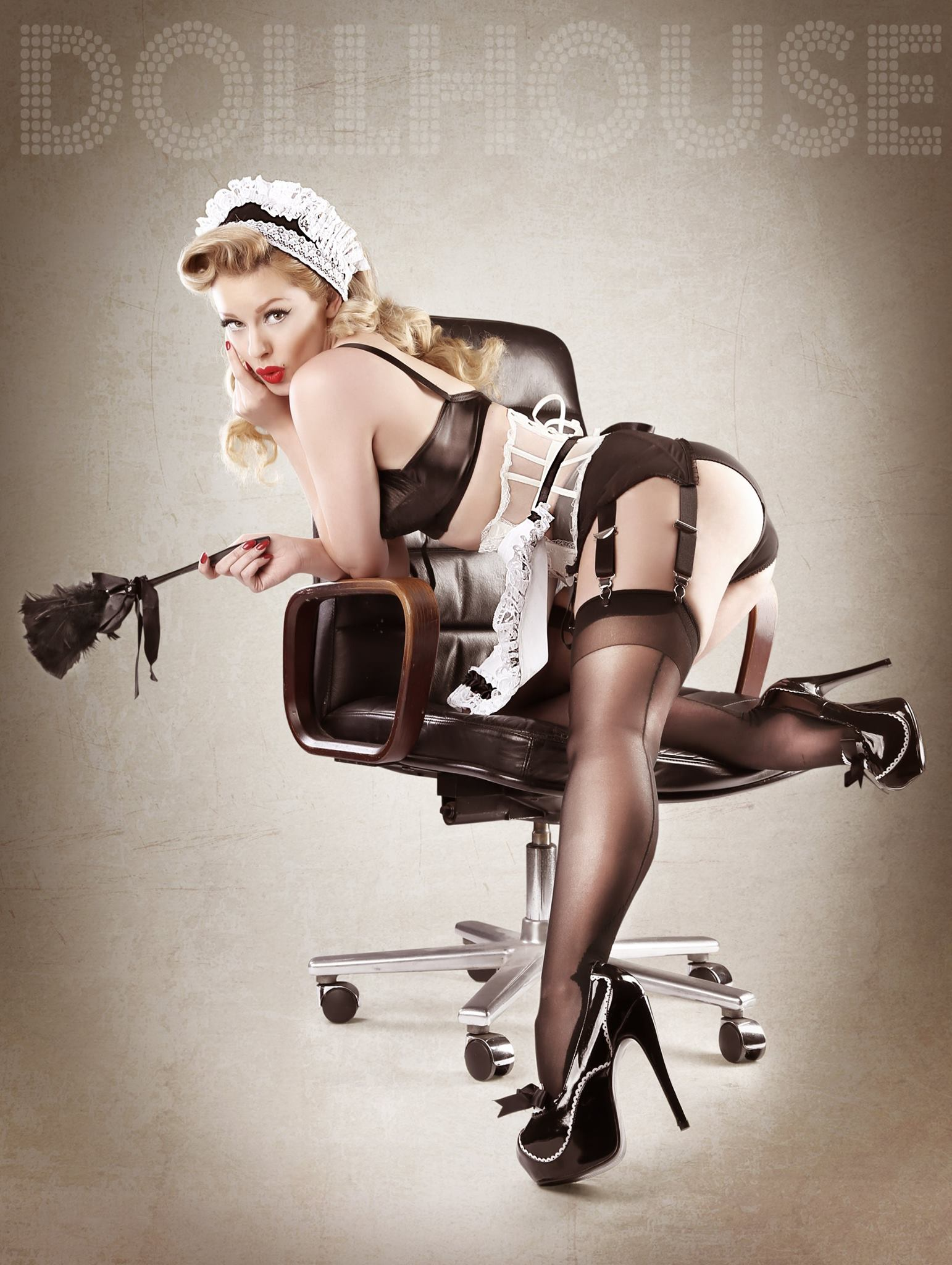 French Maid Pinup Model & Blog