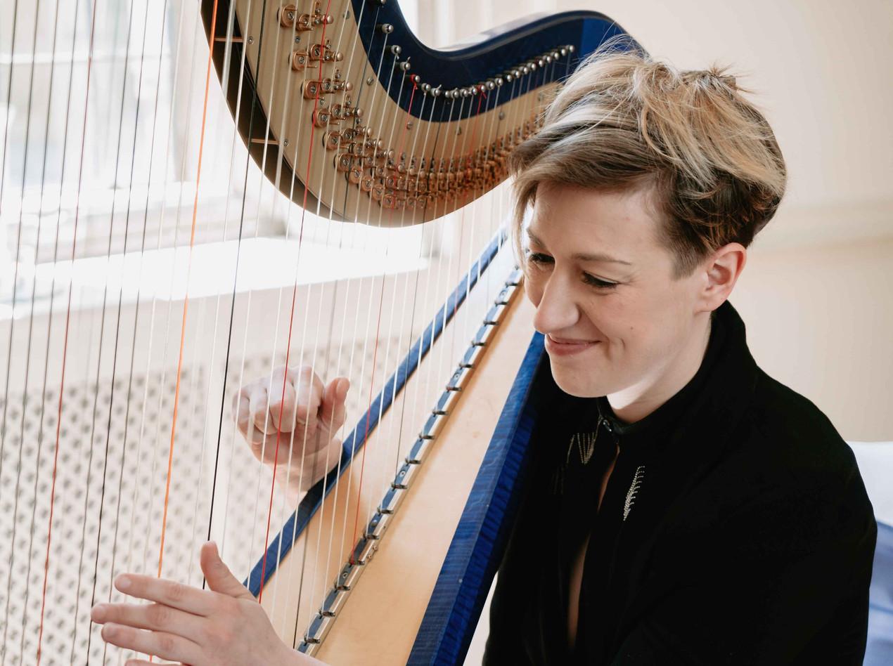 Jemima Phillips Harpist at Clearwell Castle Wedding Venue