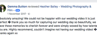 Recommended Wedding Videographer Somerset - Heather Bailey Photography and Film
