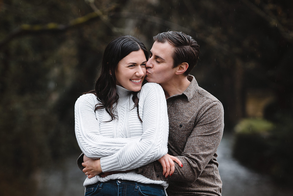 Couple Portraits for Engagement Shoot at Castle Combe Wiltshire