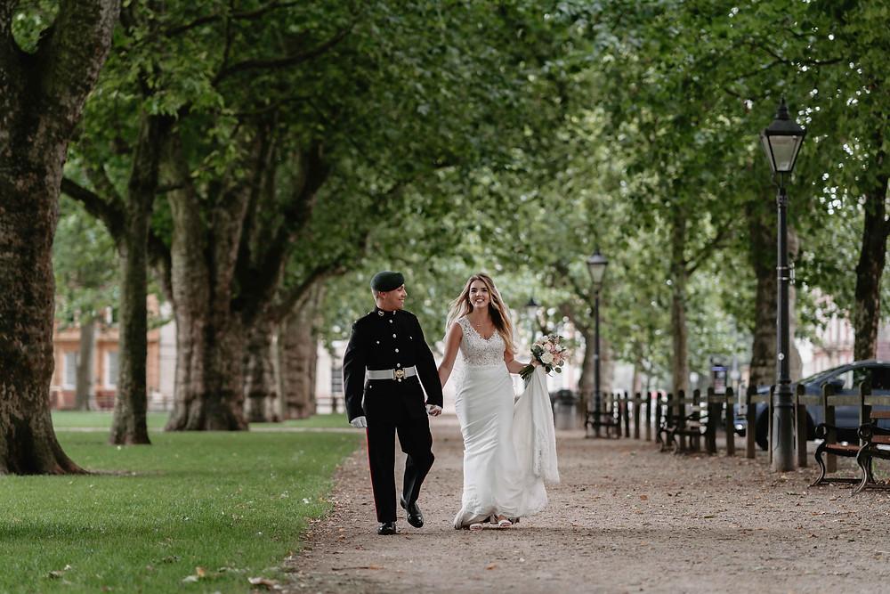 Bristol Wedding Photographer. Couple Portraits Bristol Harbour Wedding.