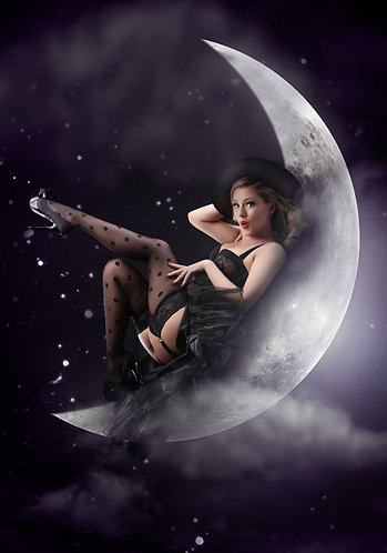 Halloween Moon Witch