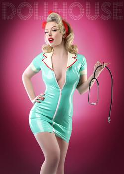 Latex Nurse Pinup Model & Blog
