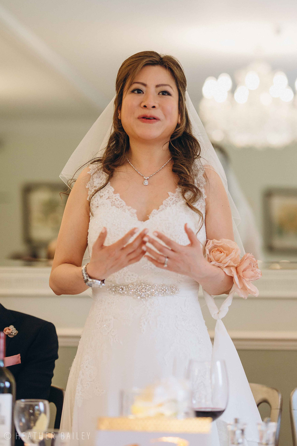Brides Speech - Photographer at Beechfield House, Melksham, Wiltshire - Heather Bailey Wedding Photography and Videography