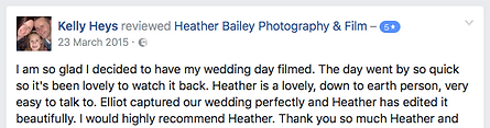Recommended Wedding Videography Somerset - Heather Bailey Photography and Film