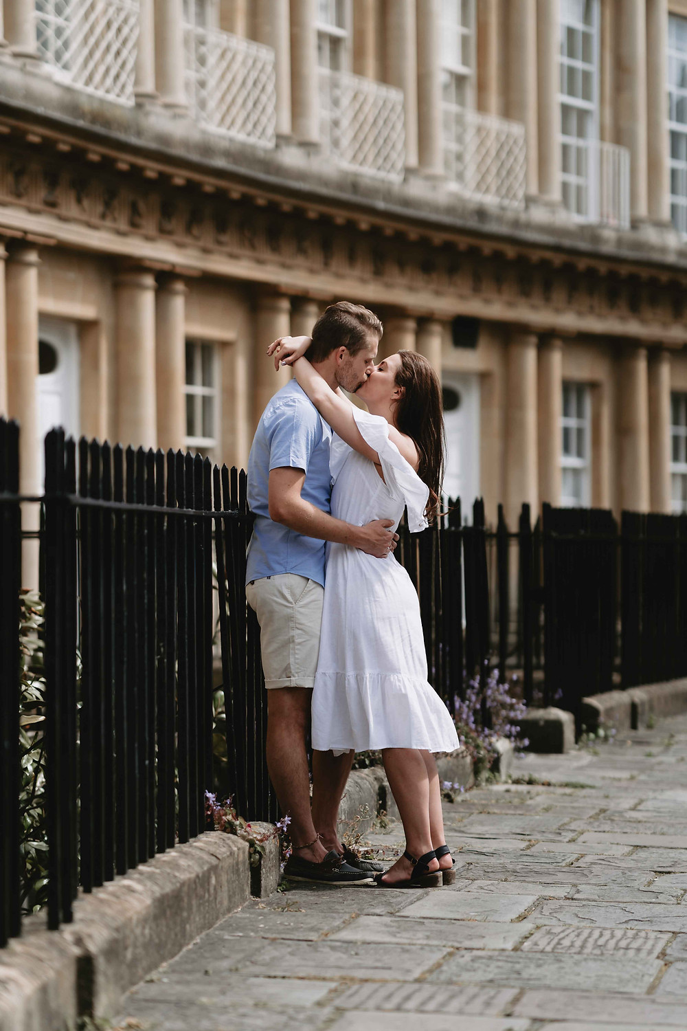 Pre-Wedding Engagement Photography the circus Bath, Somerset. By Award Winning Wedding Photographer Heather Bailey