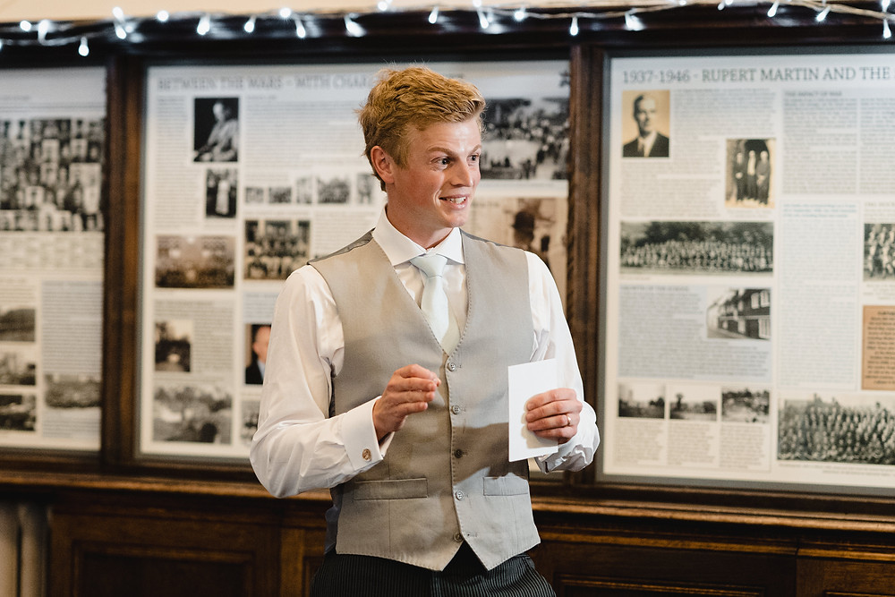 Wedding Speeches. Documentary Wedding Photographer Somerset. Professional Wedding Photographer