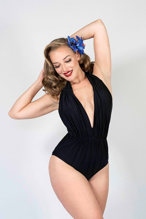 Black Derek One-Piece Swimsuit