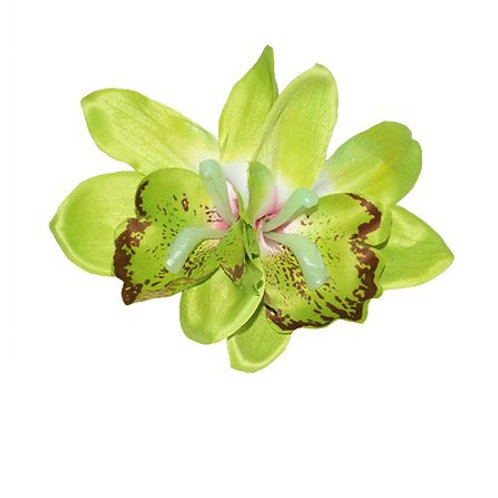Double Green Orchid Hair Flower